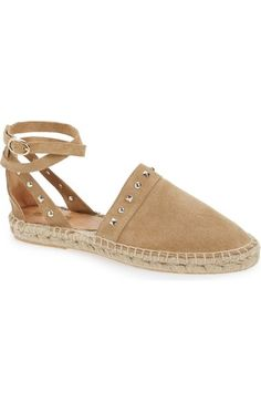 Topshop 'Kite' Studded Wraparound Espadrille (Women) available at #Nordstrom