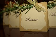 Fresh Rosemary Place Card