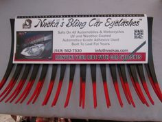 Bling Car Accessories, Premium Cars, Eyelashes, Red, Lashes, Rouge