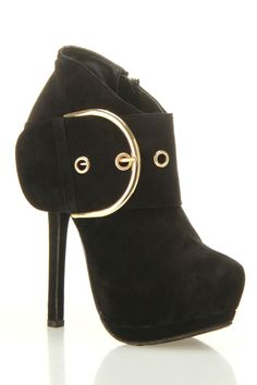 These are cute and chic. Dollhouse Vixen Heeled Platform Bootie In Black - Beyond the Rack