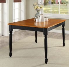 Traditional Solid Wood Dining Table Breakfast Kitchen Home Furniture Room Family #TraditionalSolidWoodDiningTable #Traditional