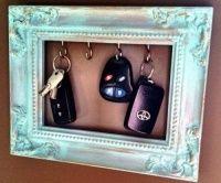 key holder and refurbished picture frame!