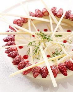 Panna cotta met aardbeien