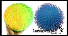 """Set of 2 Jumbo 8"""" Puffer Balls - Multi-Color Tie Dye Swirl - Sensory T 