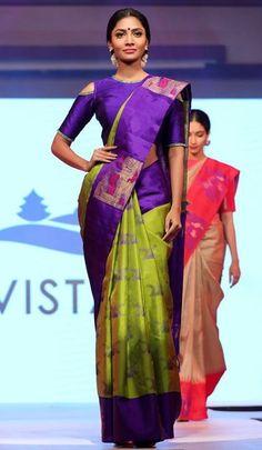 Kanchipuram silk sarees Indian Sarees Click VISIT link above to see Indian Silk Sarees, Pure Silk Sarees, Ethnic Sarees, Saree Color Combinations, Ethno Style, Kanchipuram Saree, Kanjivaram Sarees, Saree Blouse Neck Designs, Saree Dress
