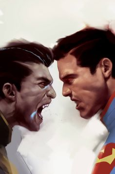 Lobo vs. Superman by Ben Oliver