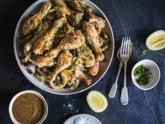 Roasted garlic, lemon & rosemary chicken drumsticks recipe