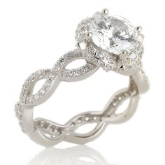 infinity band engagement ring