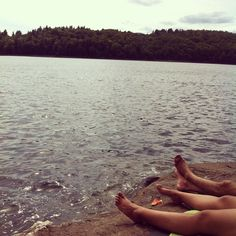 #Skinnydipping and swimming at The Ledges, #Harrimanreservoir, Vermont.
