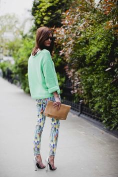 Ok I'm repinning this for two reasons. one, those pants are hideous, two,I'm just waiting for her legs to snap