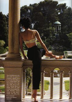 'Heather, la belle aux pieds nus' from………….French Glamour June 1993 feat Heather Stewart-Whyte