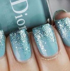Shimmering blue!