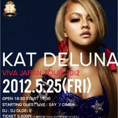 Kat Deluna in jpn on Nagoya city Next Friday. My Cmpny is Lighting Works day.