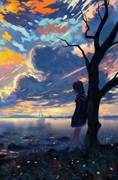 Pin by mockup design on art in 2019 anime art, anime scenery, art. Fantasy Landscape, Landscape Art, Fantasy Art, Anime Scenery Wallpaper, Landscape Wallpaper, Anime Artwork, Anime Girl Cute, Anime Art Girl, Anime Love