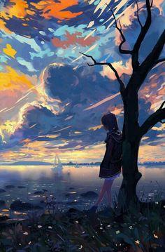 Pin by mockup design on art in 2019 anime art, anime scenery, art. Anime Landscape, Fantasy Landscape, Landscape Art, Fantasy Art, Anime Backgrounds Wallpapers, Anime Scenery Wallpaper, Landscape Wallpaper, Animes Wallpapers, Phone Wallpapers