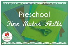 Fine Motore activities and ideas for teachers and homeschooling parents.