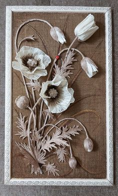 Neli Quilling, Paper Quilling Designs, Jute Flowers, Fabric Flowers, Hessian Crafts, Bobbin Lacemaking, Burlap Projects, Air Dry Clay, Easy Paintings