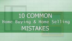 10 Common Buying and Selling Mistakes