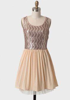 Maple Candy Sequined Dress 54.99 at shopruche.com. Perfected with a pale yellow pleated cotton skirt, this lovely two-toned dress features a coffee-hued top with bronze zigzag sequined detailing. Finished with a tulle lining for added volume and feminine flair.Skirt: 100% Cotton, Lining: 100% Polyester, Contrast...