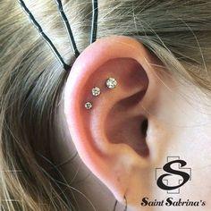 Triple helix/flat piercings