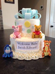 Winnie The Pooh & Friends Baby Shower Cake