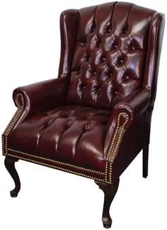 Traditional Wingback Side Chair in Oxblood, 200-OXBLOOD by Indian Creek by Indian Creek | BizChair.com