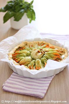 Quiche ai fiori di zucca e formaggi - before by **Alessia**, via Flickr