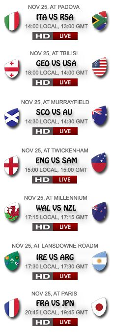 RugbyOnlineStream.com provides world wide Rugby Live Streaming service for all major tours and tournaments below is the most watched tournaments.