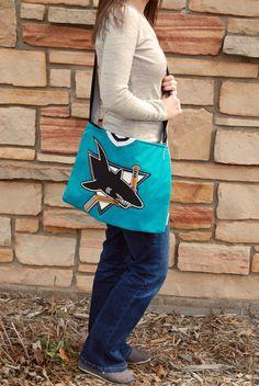 San Jose Sharks NHL Upcycled Hockey Jersey by jadariehandmade, $40.00