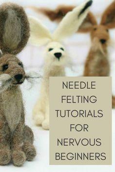 Easy needle felting tutorials, patterns and videos from Lincolnshire Fenn Crafts Needle Felting Kits, Needle Felting Tutorials, Needle Felted Animals, Felt Animals, Wet Felting Projects, Wool Felting, Felt Diy, Felt Crafts, Fabric Crafts