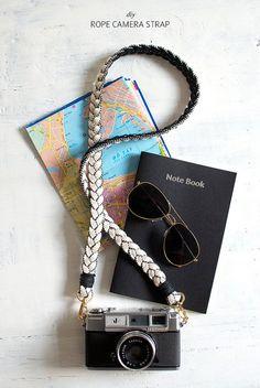 Make a rope camera strap www.apairandasparediy.com