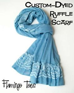 custom-dyed ruffle scarf tutorial by flamingo toes. here's our chance to use RIT dye! :D