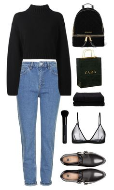 """""""This Town"""" by chanelniall ❤ liked on Polyvore featuring Maison Close, Topshop, Pull&Bear, MICHAEL Michael Kors, DKNY, Zara, Home Source International and Givenchy"""