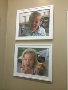 Pictures of filthy kids for laundry room.