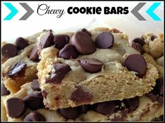 Chewy Chocolate Chip Cookie Bars {my favorite bar recipe!}
