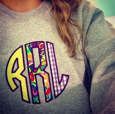 Im not a big fan of monogramed stuff but this is really cute.