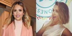 """Looks like Jessica Alba has caught the bob bug! The actress is the latest star to chop her locks and debuted the look on her Instagram during South by Southwest. """"Uh oh someone chopped off her hair!"""" she captioned the mischievous pic before posting another with her hairstylist. """"Thnk u @giannandrea1 4 the cute cut! Love it!"""""""