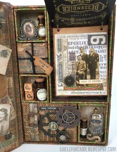 Hi all! I'm so excited to share this project I created for Tim Holtz's idea-ology booth. The new line is called Dapper and it's the perfe...