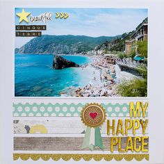 #papercraft #scrapbook #layout. My Happy Place by A2Kate at @studio_calico