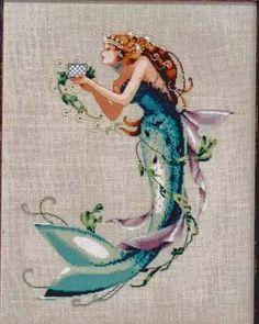 Schema punto croce - The Queen Mermaid   Hobby lavori femminili - ricamo - uncinetto - maglia