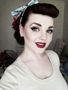 50's hair style for vintage wedding!