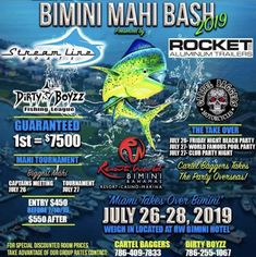 Want a chance to win free entry into THE BIMINI MAHI BASH? CLICK ON THE LINK and enter to win.  Brought to you by Bahamas Sport Fishing Network in partnership with DIRTY BOYZZ Fishing League. #fishing #tournament #saltwaterfishing #bimini #mahi #sportfishing #boating #marinas #bahamas Fishing Tournaments, Free Entry, Mahi Mahi, Sport Fishing, Saltwater Fishing, Boating, Link, Travel, Viajes