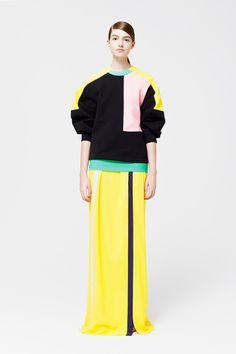 Roksanda Ilincic | Resort 2015 Collection | Style.com || beautiful yellows!