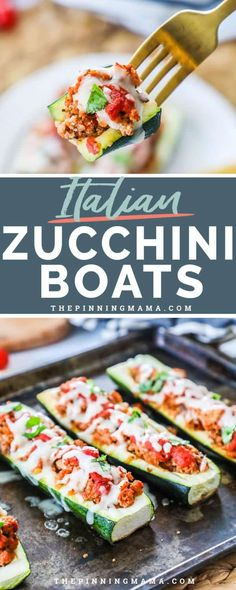 Italian Stuffed Zucchini Boats are delicious and wholesome for the whole family to enjoy. Inexpensive Healthy Meals, Healthy Toddler Meals, Healthy Meals For One, Healthy Meal Prep, Healthy Eating, Dinner Healthy, Healthy Food, Clean Eating, Heathly Dinner Recipes