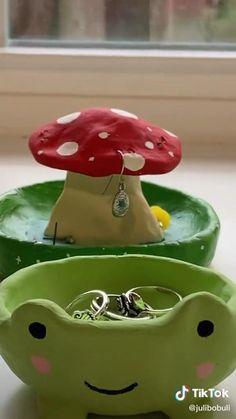 Polymer Clay Crafts, Diy Clay, Keramik Design, Clay Art Projects, Cute Clay, Fun Diy Crafts, Paperclay, Clay Creations, Pottery Art