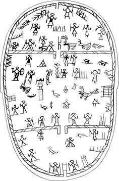 Manker drum no. Ancient Alphabets, Ancient Symbols, Ancient Art, Native Symbols, I Ching, Tribal Art, Henna Designs, Art Nouveau, Art Deco