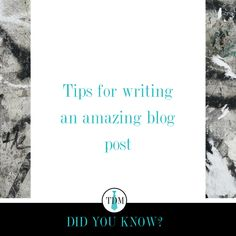 Make the topic something you are passionate about and enjoy writing Figure out the title first Don't make it perfect, make it you with your perosnal voice Branding Agency, 3 In One, Writing Tips, Business Tips, Did You Know, Cards Against Humanity, Passion, Marketing, Blog