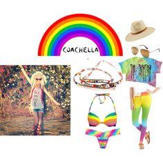 """Coachella 2014 #rainbow #music"" by kristy-kim on Polyvore"