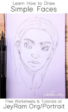Learn how to draw simple faces with the step by step tutorials made for beginners on the site. This series of tutorials includes free worksheets (printable PDFs) that you can use to practice your drawing skills. This will make it much easier to get hands on practice! We go over how to draw the headshape, nose, eyes, lips, ears and more. I also have lots more drawing tutorials for all your art-making needs :D #art #drawing #face #tutorial #manga #anime