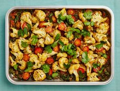 The vegan main: Yotam Ottolenghi's baked cauliflower, with spices, spinach and tomato